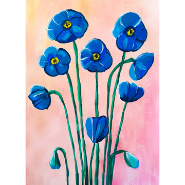 'Blue Poppy' DIY Paint Kit