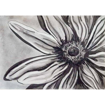 'Charcoal Flower' DIY Drawing Kit