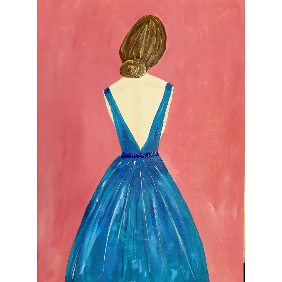 Woman in the Blue Dress Kit