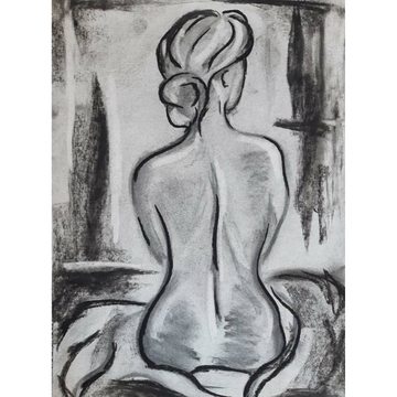 'Charcoal Nude Back' DIY Drawing Kit