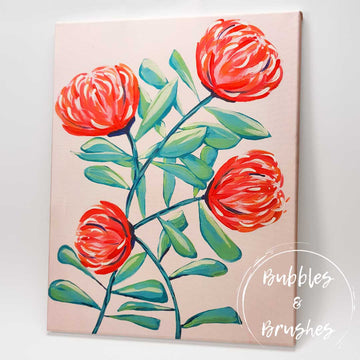 'Abstract Waratah' DIY Paint Kit