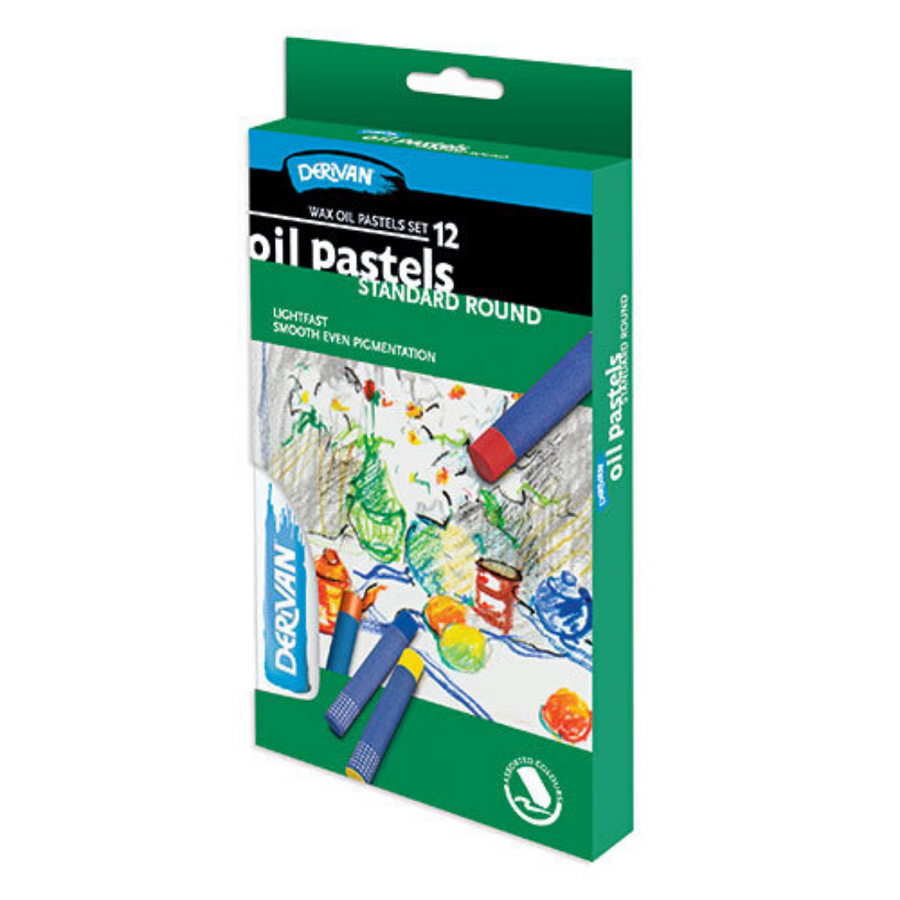 Derivan Oil Pastels - Pack of 12