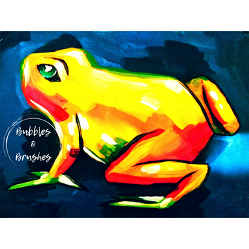 Kid's Orange Frog DIY Paint Kit