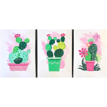 Pricking Awesome Cactus Triptych Kit