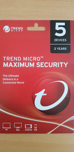 Trend Micro Maximum Security 5 Devices 24 months