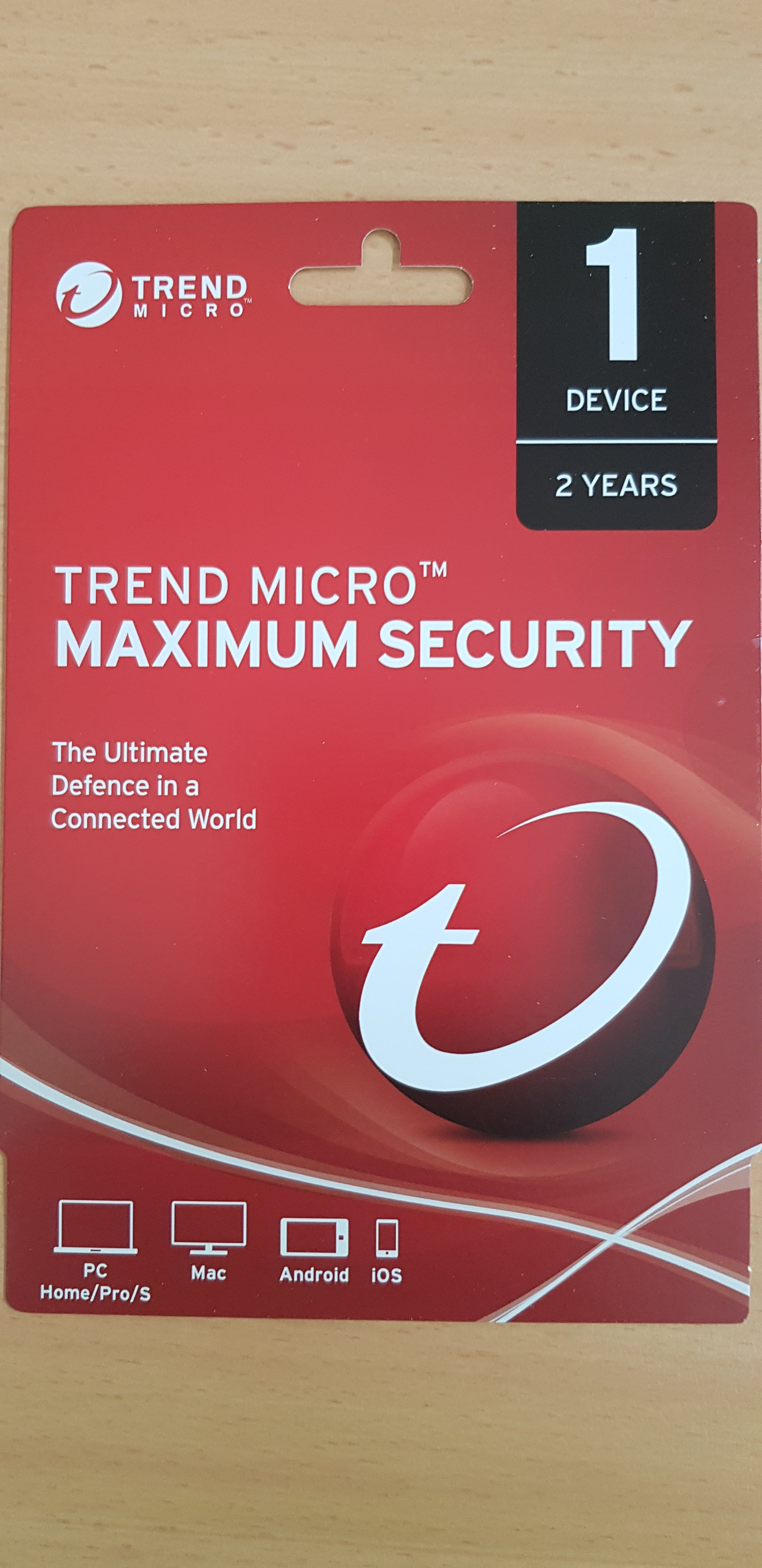 Trend Micro Maximum Security 1 user 24 months