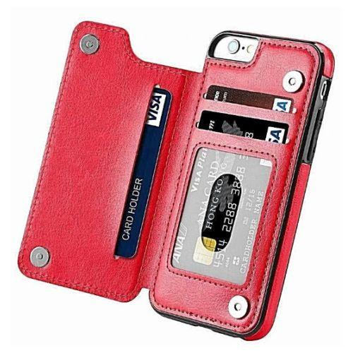 Leather Flip Wallet Case For iPhone 6/7/8