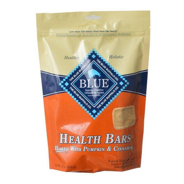 Blue Buffalo Health Bars Dog Biscuits - Baked with Pumpkin & Cinnamon - 16 oz - Giftscircle