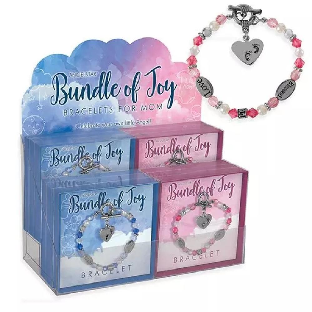 Bundle of Joy Mom Bracelets - 12 Count Display - Giftscircle