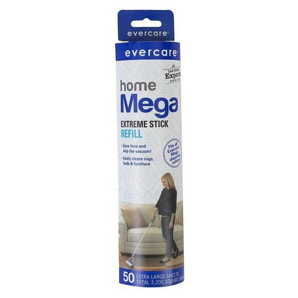 Evercare Mega Cleaning Roller Refill - 50 count - Giftscircle
