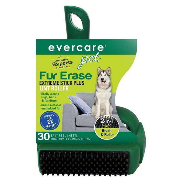 Evercare Pet Fur Erase Extreme Stick Plus Lint Roller - 30 count - Giftscircle