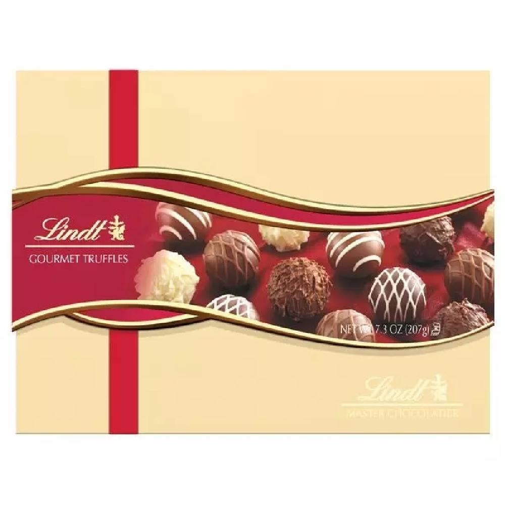 Lindor Assorted Chocolate Truffles, Wrapped Gift Box 23ct - Giftscircle