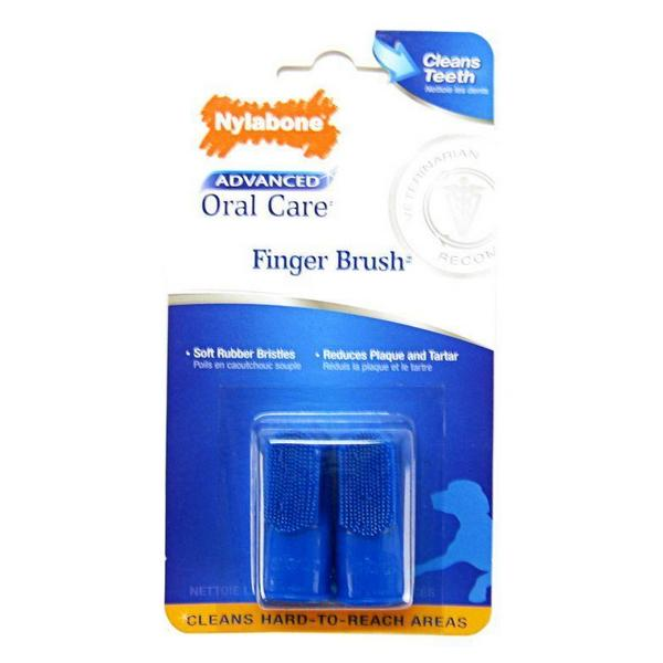 Nylabone Advanced Oral Care Finger Brush - 2 Pack - Giftscircle