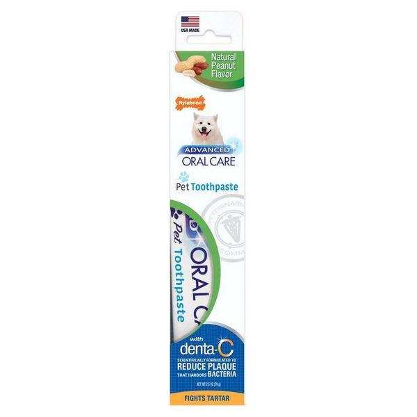 Nylabone Advanced Oral Care Natural Toothpaste - Peanut Flavor - 2.5 oz - Giftscircle