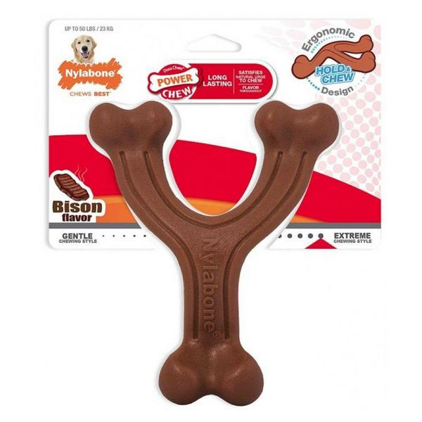 Nylabone Power Chew Wishbone Dog Chew Toy Bison Flavor - Giant - 1 count - Giftscircle