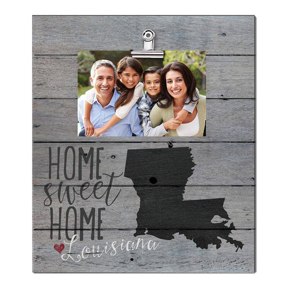 12 x 13 Louisiana Home Sweet Home Clip Photo Frame