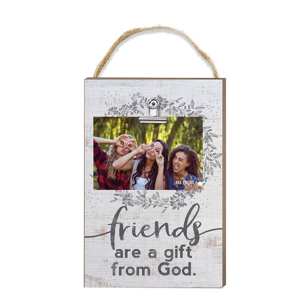 Friends Are A Gift Hanging Clip Photo Frame