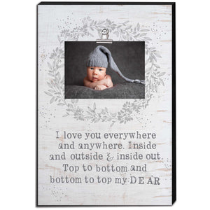 12 x 18 I Love You Everywhere Canvas Clip Picture Frame