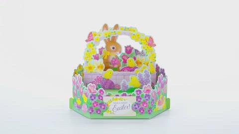 Load and play video in Gallery viewer, Bunny and Chicks Pop Up Easter Card