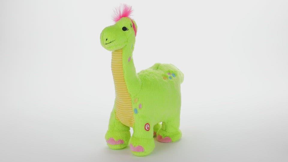 Load and play video in Gallery viewer, Egg Layin Dino Musical Stuffed Animal With Motion