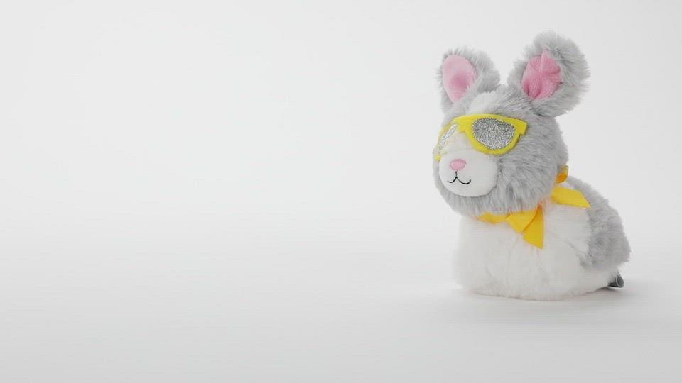 Load and play video in Gallery viewer, Zip Along Bunny With Sunglasses Stuffed Animal
