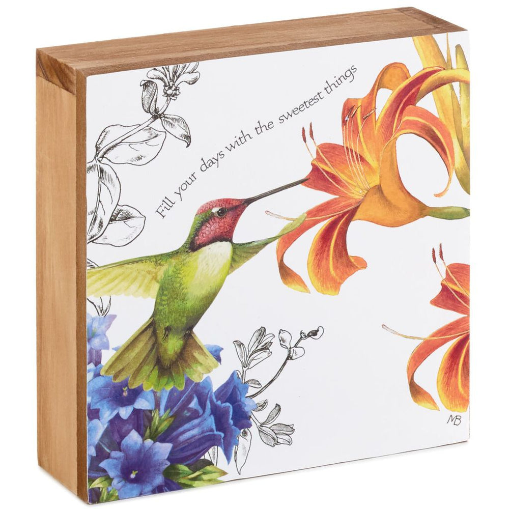 Load image into Gallery viewer, Marjolein Bastin Sweetest Things Hummingbird Art Decoration, 6x6