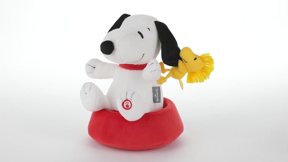 Load and play video in Gallery viewer, Peanuts Silly Spinning Snoopy Stuffed Animal With Sound and Motion, 9.5""