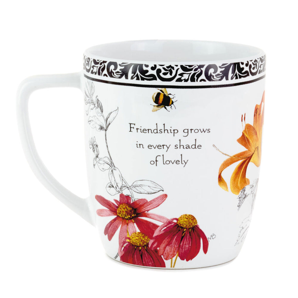 Marjolein Bastin Blooms Friendship Ceramic Mug, 12 oz.