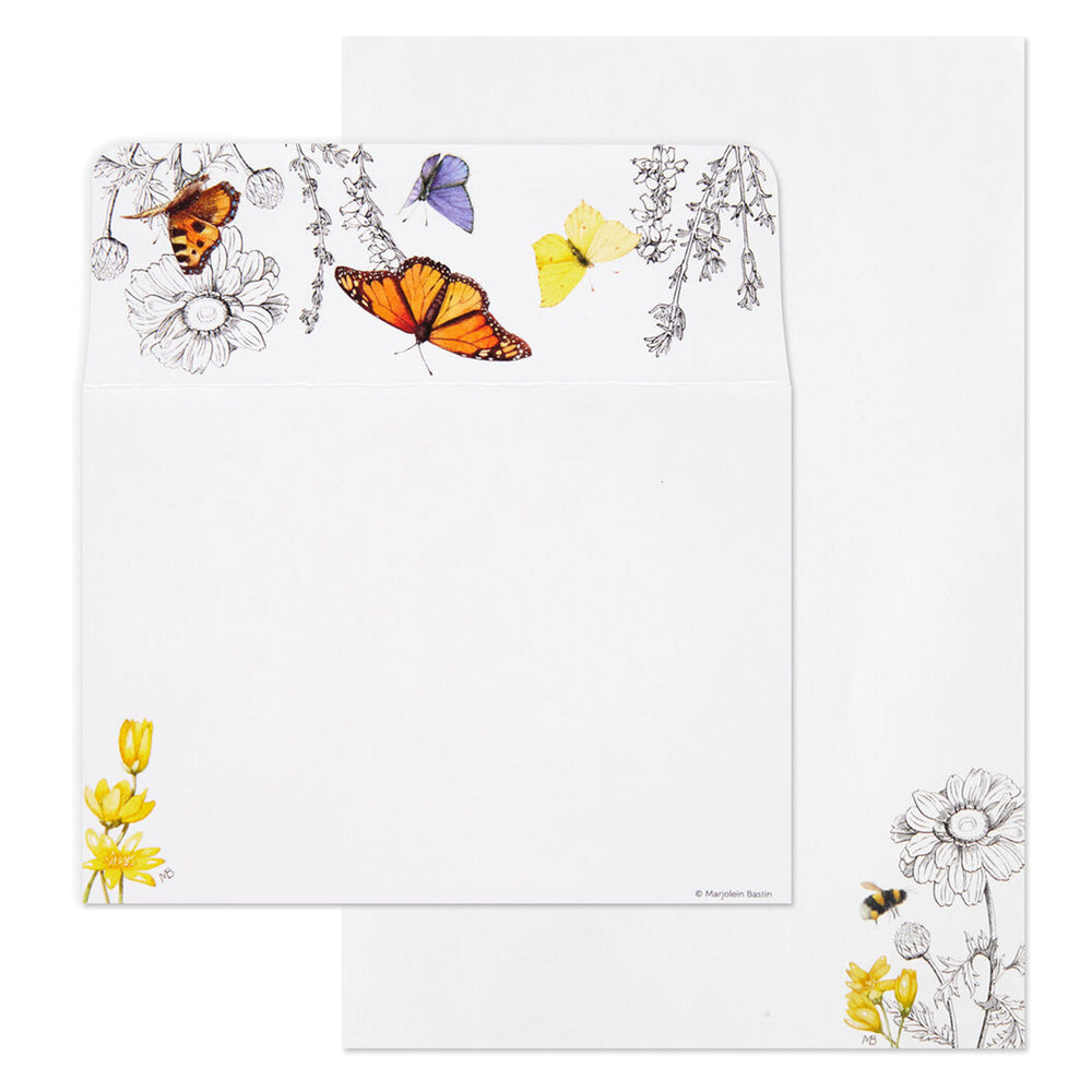 Marjolein Bastin Black Floral Stationery Set