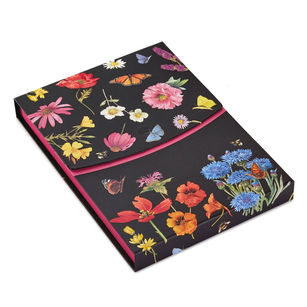 Load image into Gallery viewer, Marjolein Bastin Black Floral Stationery Set
