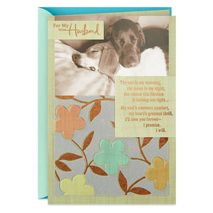 Husband - Grateful for Your Love Anniversary Card