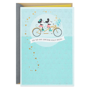 Disney Mickey and Minnie on Tandem Bicycle Anniversary Card
