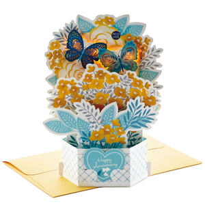 Butterfly Bouquet 3D Pop-Up Musical Anniversary Card With Light