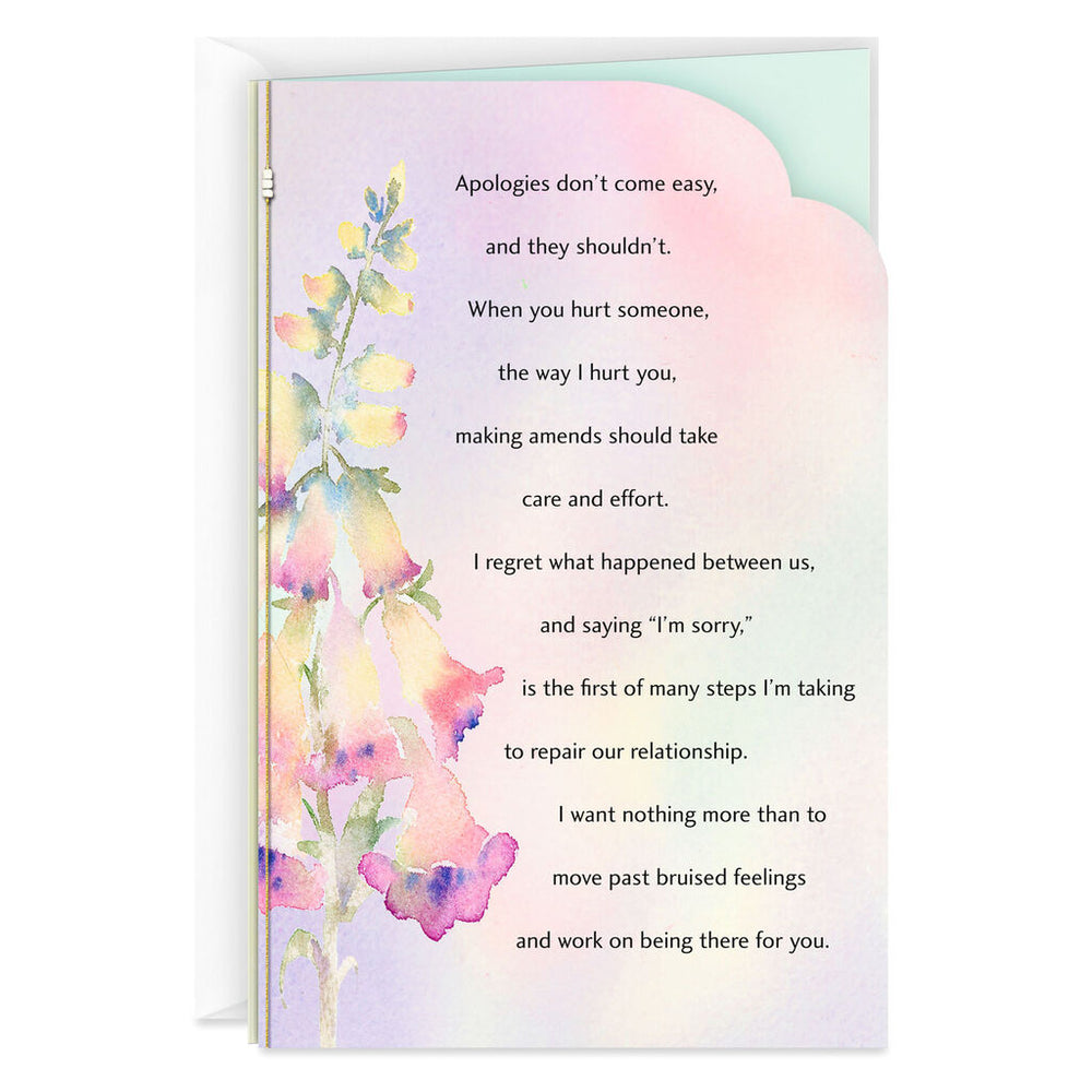 Watercolor Flowers Apology Card