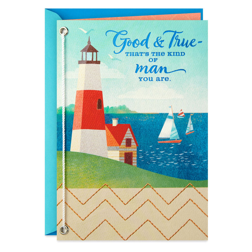 Load image into Gallery viewer, Husband - Sail Boats and Lighthouse Birthday Card