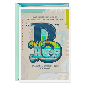 Brother - Best With a B Birthday Card