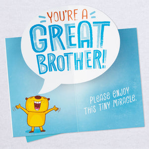Load image into Gallery viewer, Brother - Tiny Miracle Funny Pop Up Birthday Card