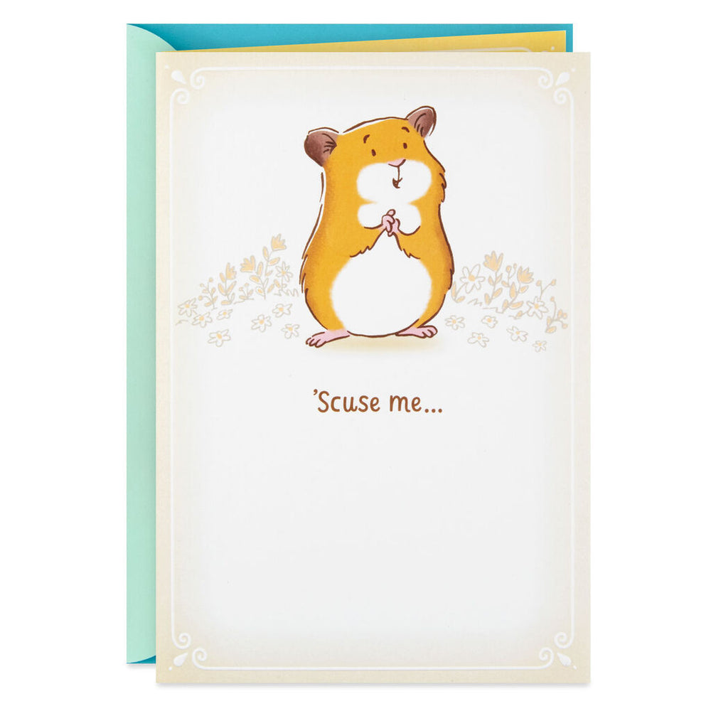Huggable Hamster Encouragement Card