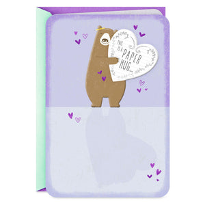 Bear Hug Thinking of You Card