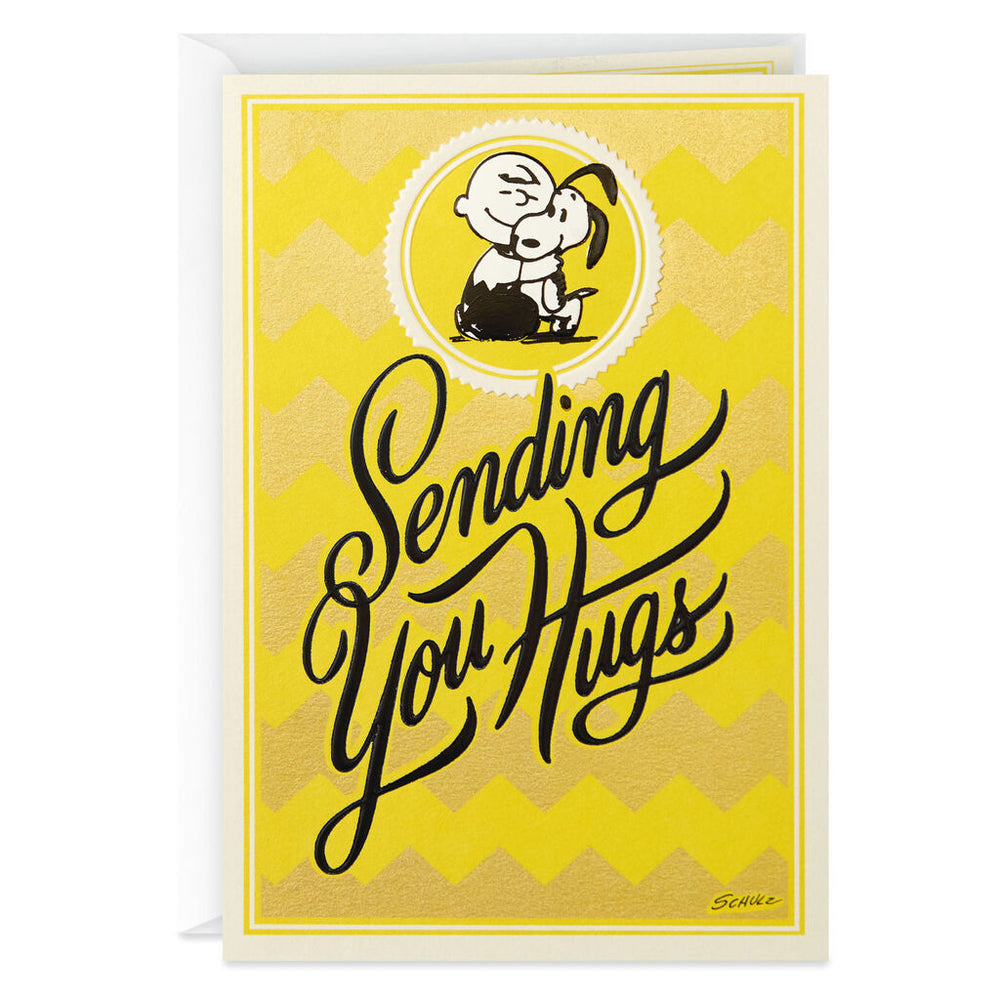Load image into Gallery viewer, Peanuts Charlie Brown and Snoopy Sending Hugs Get Well Card