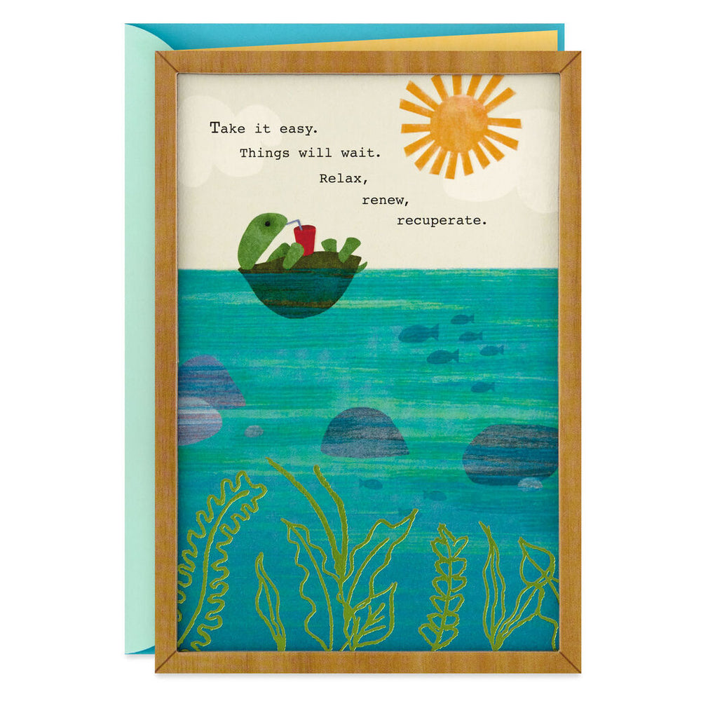 Relax, Renew, Recuperate Turtle Get Well Card