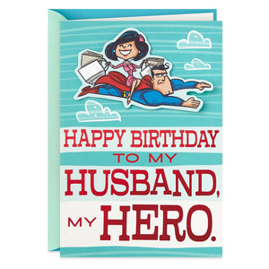 Load image into Gallery viewer, Husband - DC Comics Superman™ My Husband, My Hero Birthday Card