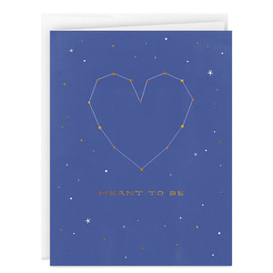 You and Me Meant to Be Heart Love Card