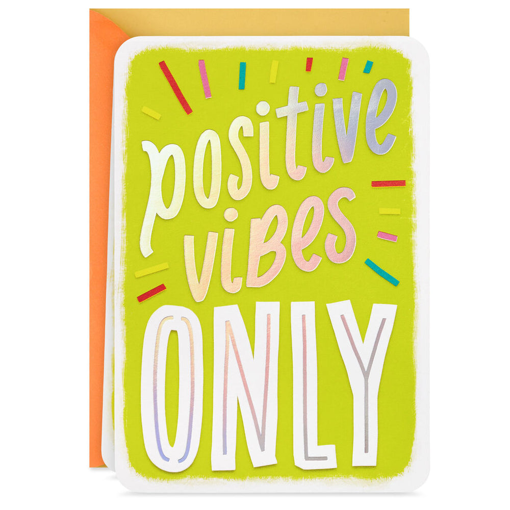 Positive Vibes Only Blank Encouragement Card