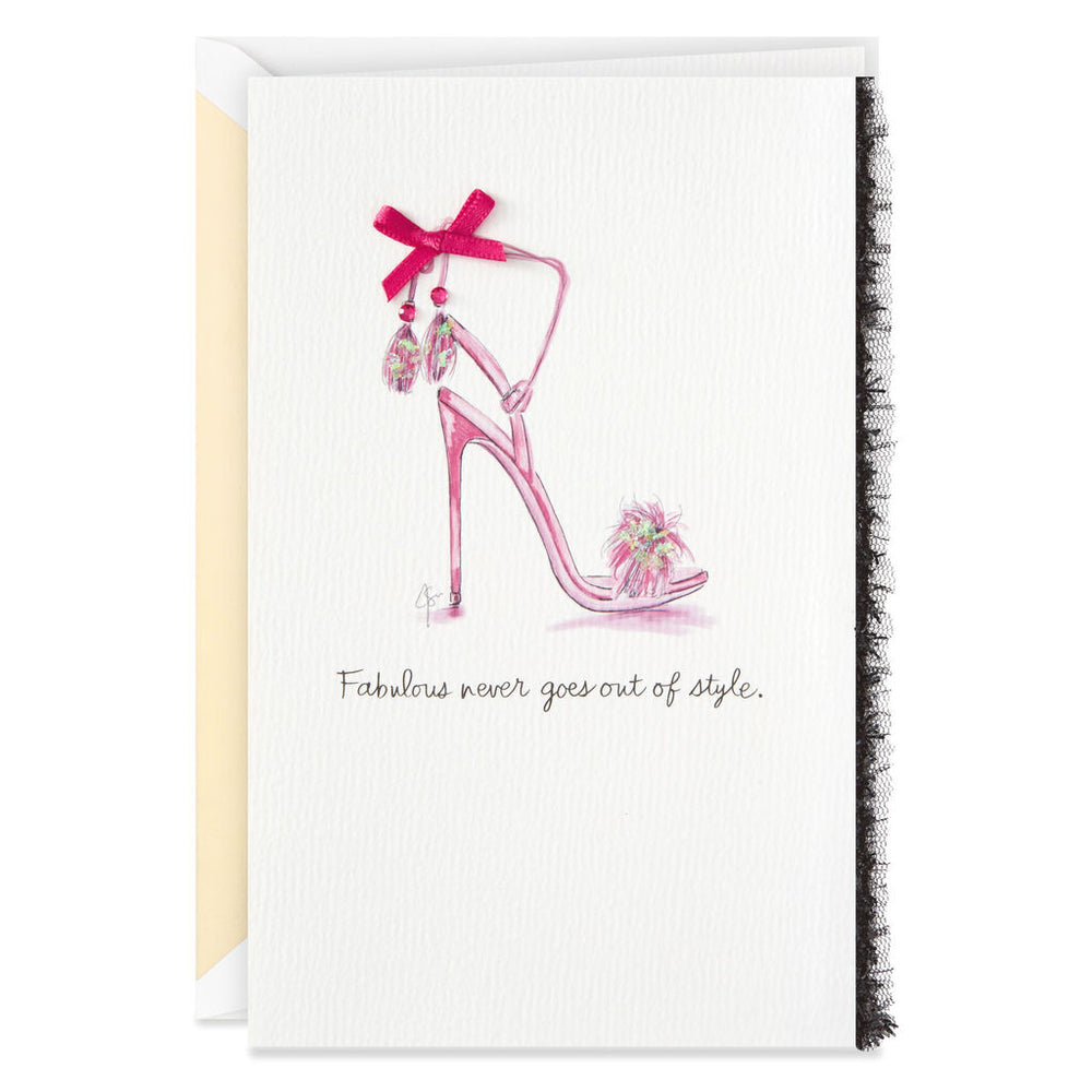 Signature - Fabulous and Fancy Pink Stilettos Birthday Card