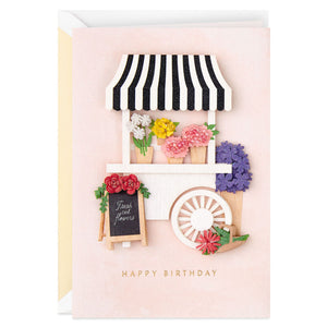 Signature - You Brighten So Many Days Flower Cart Birthday Card
