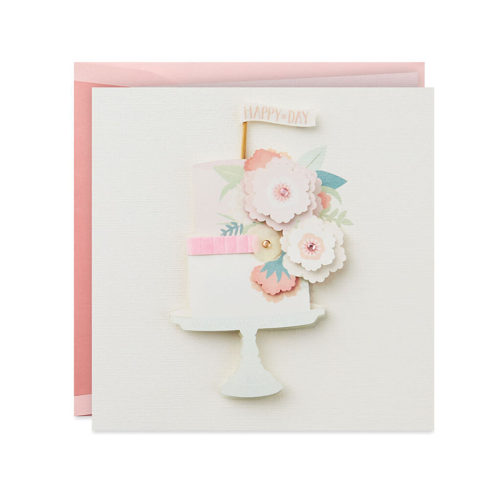 Signature - Happy Day Tiered Cake Birthday Card