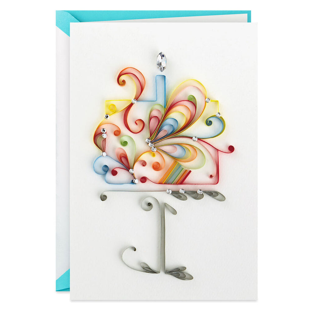 Signature - Quilled Cake Birthday Card