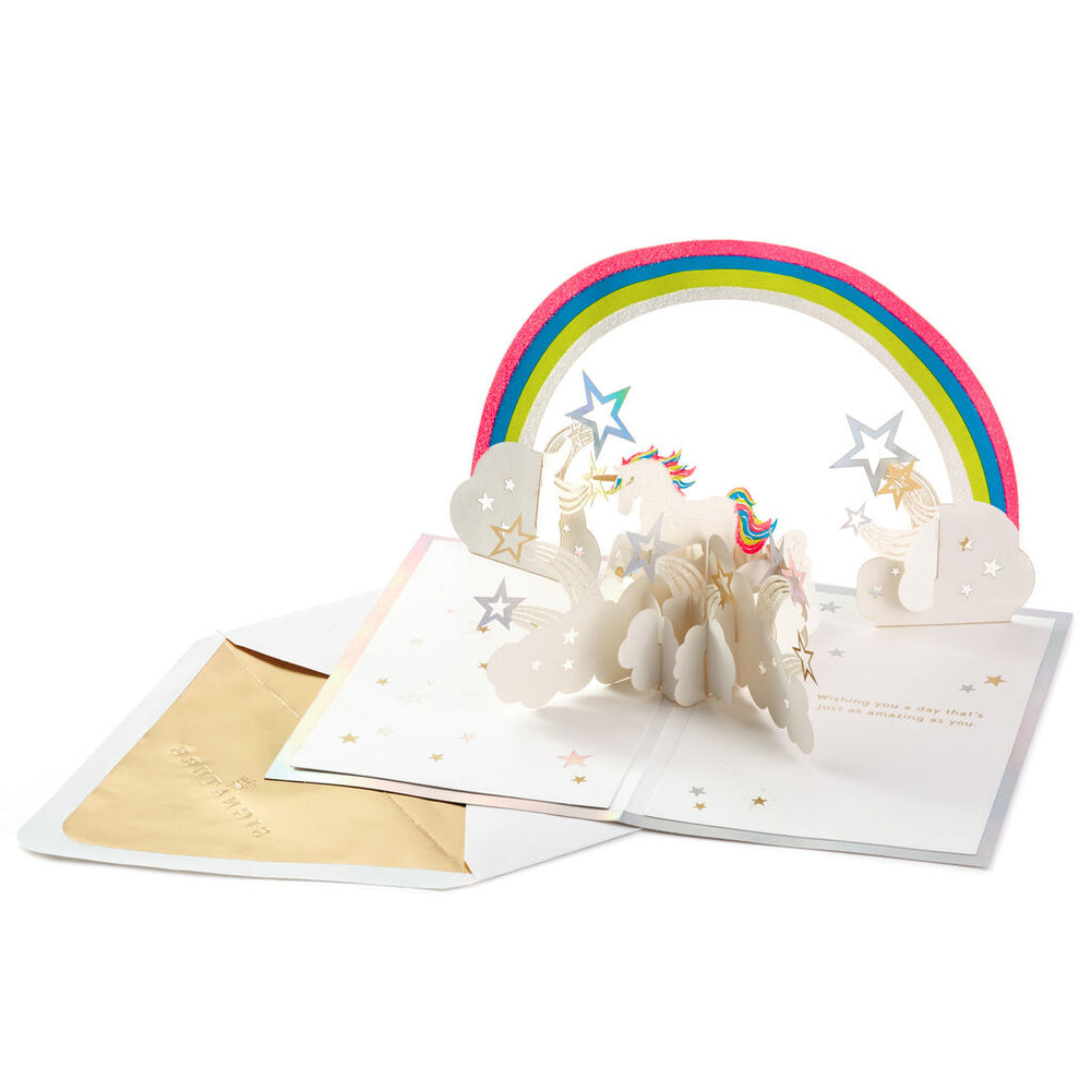 Amazing Day Unicorn Signature 3D Pop Up Birthday Card