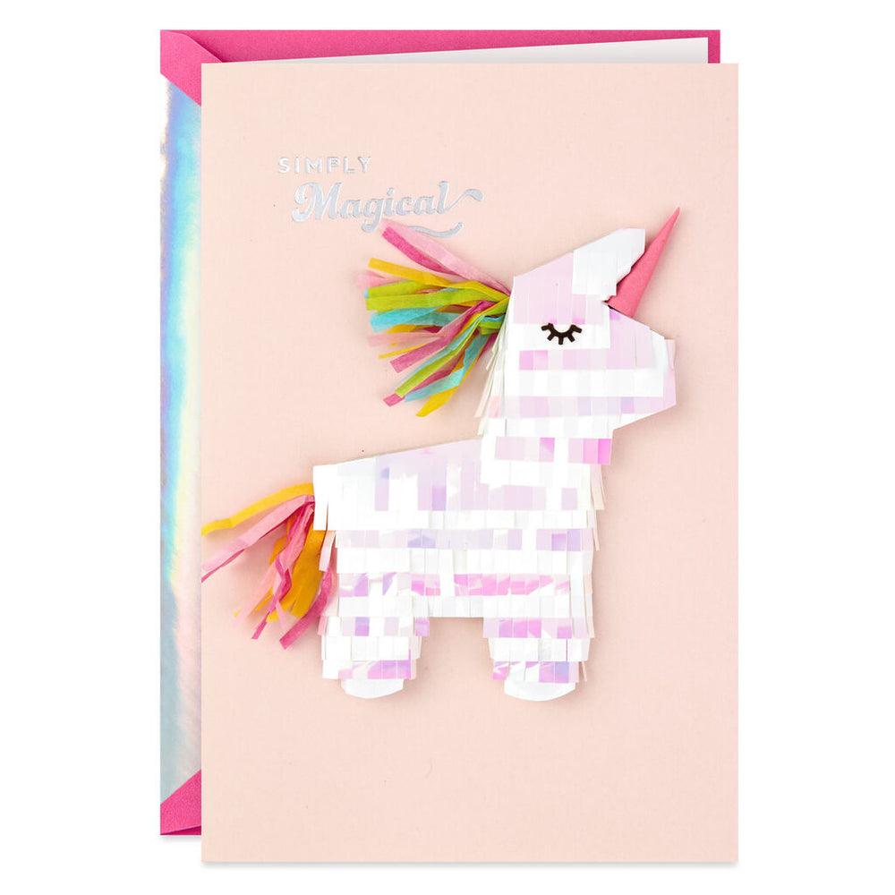 Load image into Gallery viewer, Signature - Unicorn Simply Magical Birthday Card